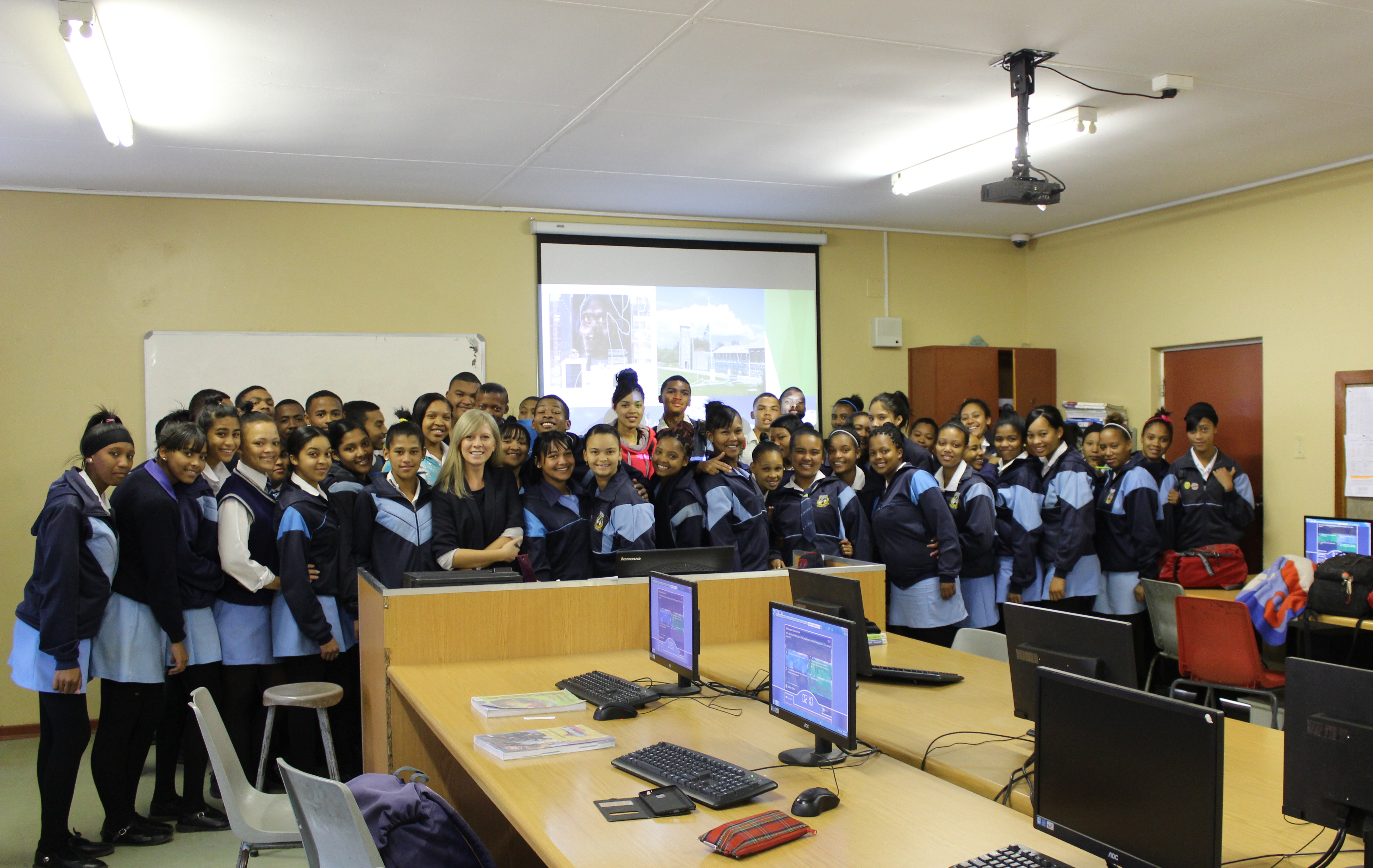 PhD candidate Asta Adukaite visiting schools in South