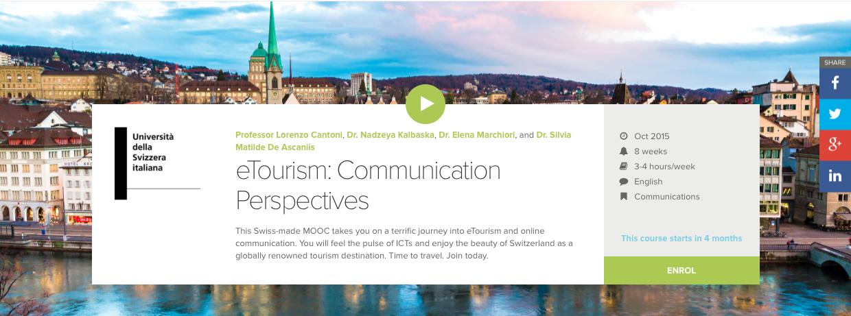 eTourism: Communication Perspectives