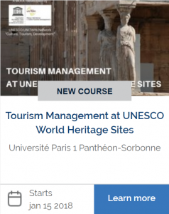 """""""Tourism Management at UNESCO World Heritage Sites"""" new free online course open for registration!"""