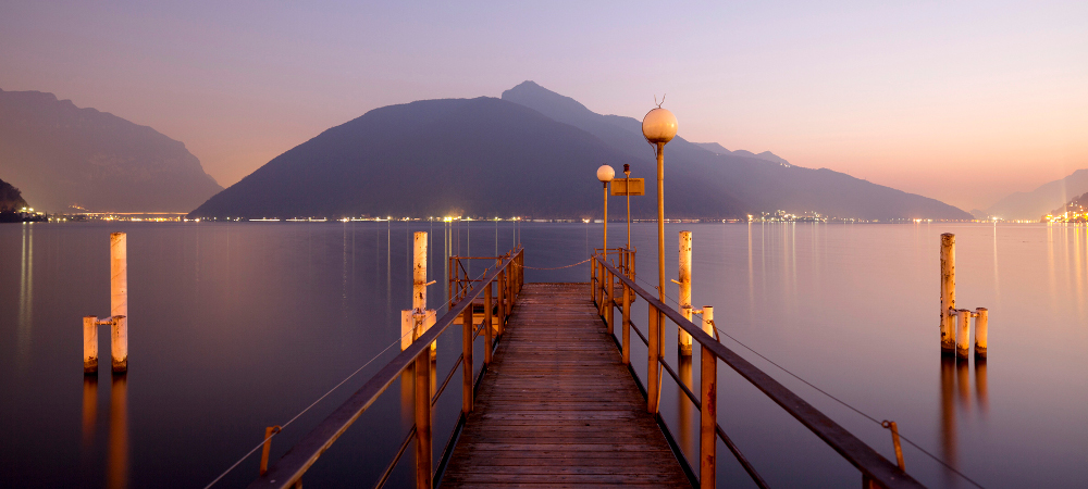 A view on Lake Lugano, Switzerland