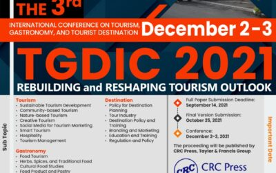 Call for Paper – 3rd International Conference on Tourism, Gastronomy, and Tourist Destination (TGDIC2021)