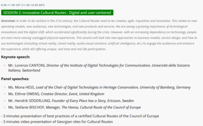 Lorenzo Cantoni @ 10th Cultural Routes Annual Advisory Forum (29-09. – 1.10.2021)