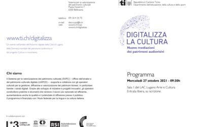 Lorenzo Cantoni @ Digitalizza la cultura. Nuove mediazioni dei patrimoni audiovisivi (27.10.2021)